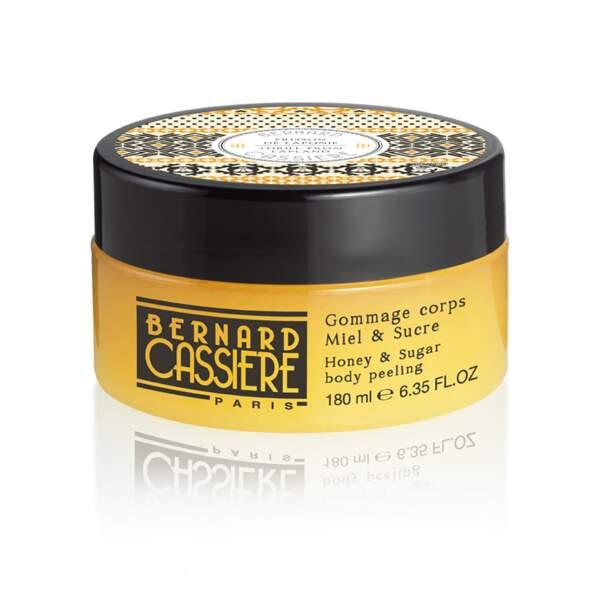 Gommage corps miel & sucre Frisson de Laponie, Bernard Cassière, pot 180 ml, prix indicatif : 28 €