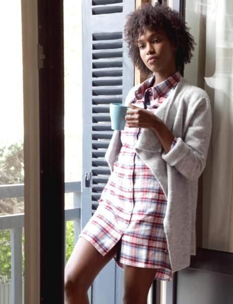 Mode cocooning : le haut de pyjama