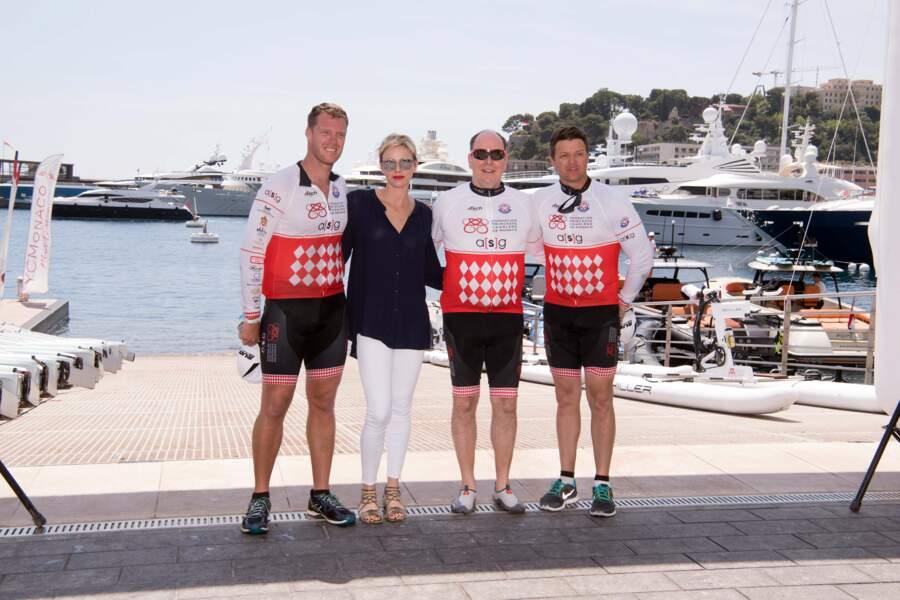 Charlène de Monaco fière de son mari et des athlètes présents