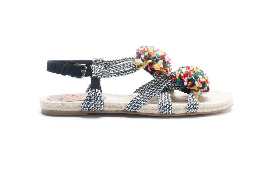 Sandales : colorée