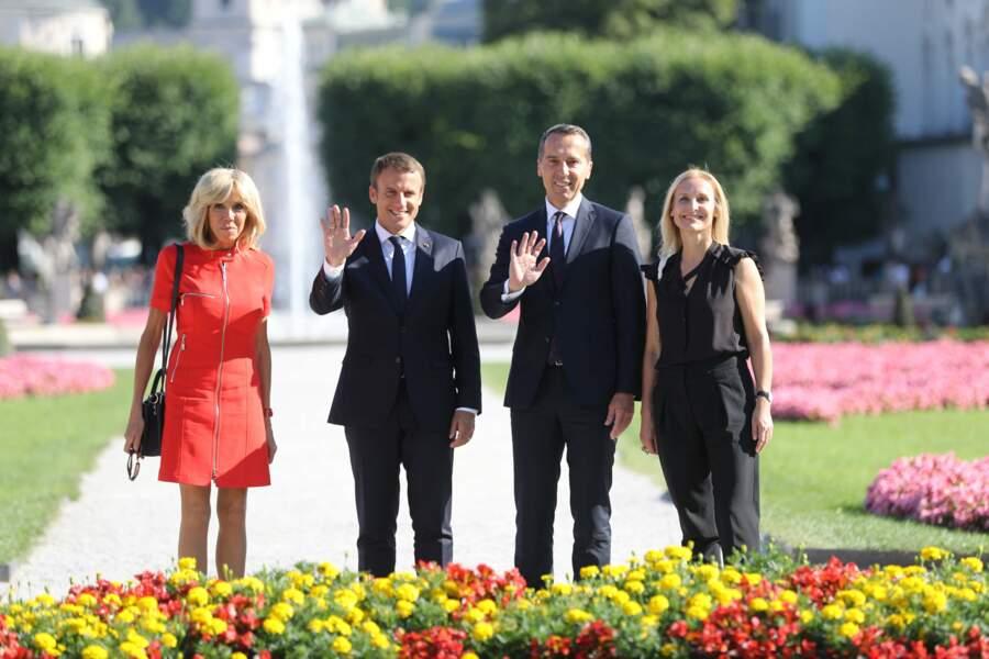 Emmanuel et Brigitte Macron - Août 2017