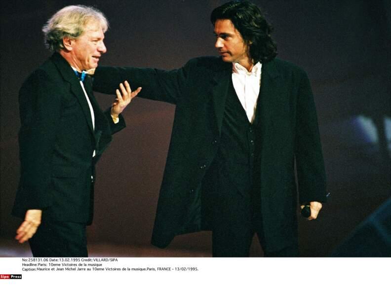 Maurice Jarre et son fils, Jean-Michel