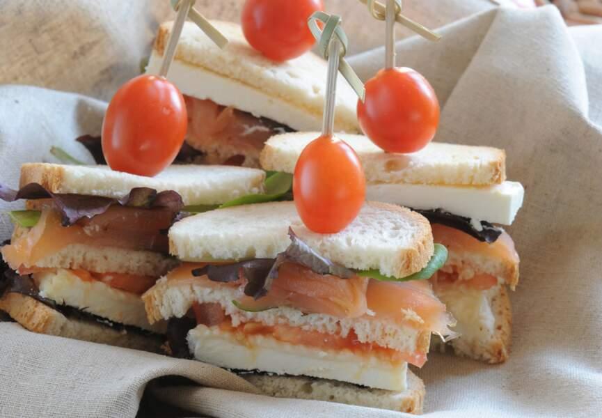 Club sandwichs saumon-chèvre