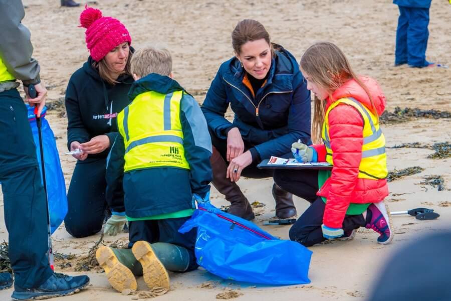 ... et pour discuter avec les personnes présentes ce jour-là sur la plage.
