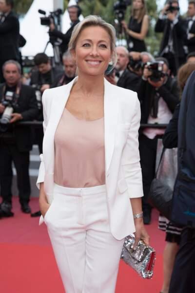 Anne-Sophie Lapix au 71ème festival de Cannes le 18 mai 2018.