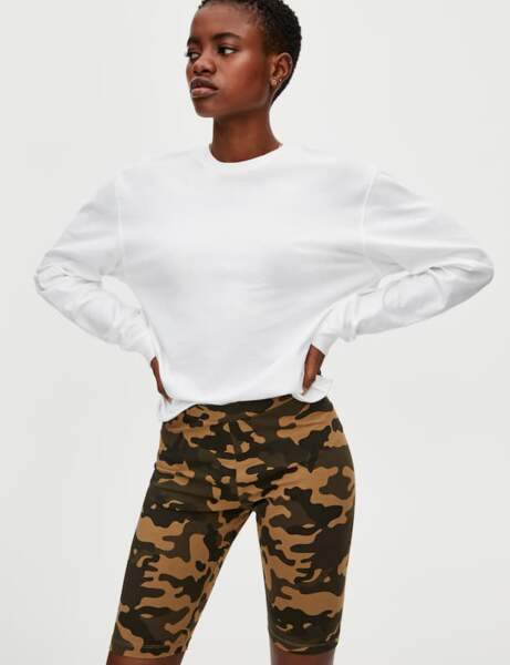 Short cycliste : camouflage
