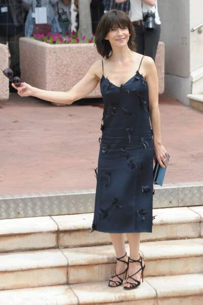 Sophie Marceau en 2015 en petite robe noire