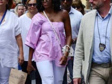 Michelle Obama se lâche : jean troué et top sexy pour l'ex première dame