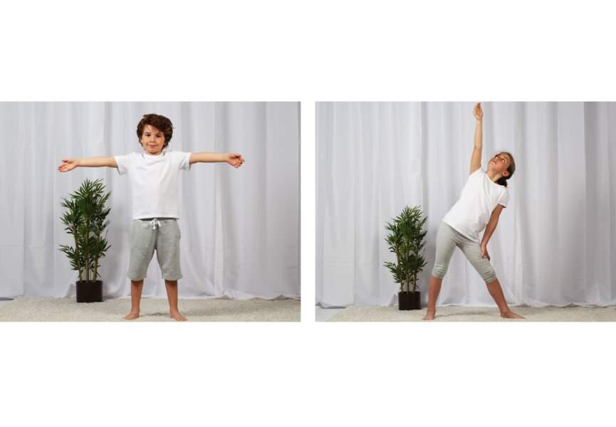 Yoga pour enfant : la position de l'avion