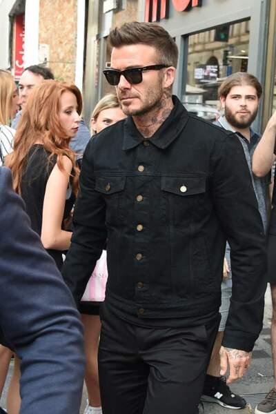 David Beckham avec des longueurs plus courtes