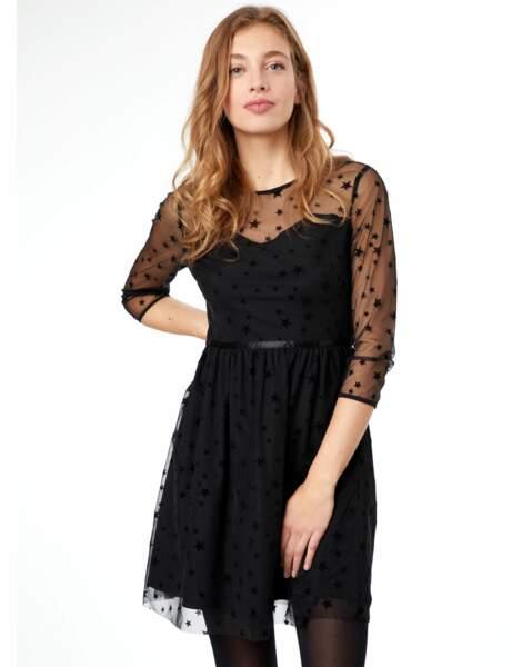 Robe d'hiver : la robe en tulle étoilé