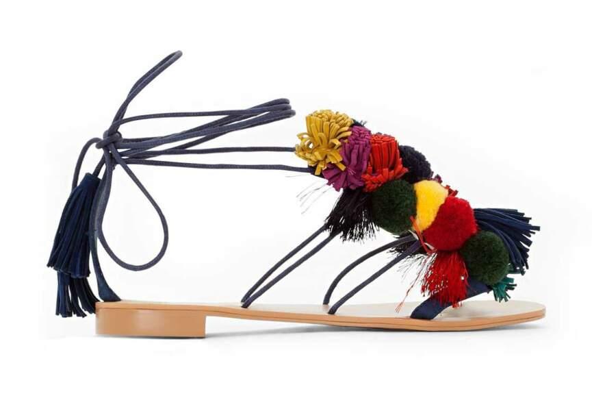 Sandales : pompons