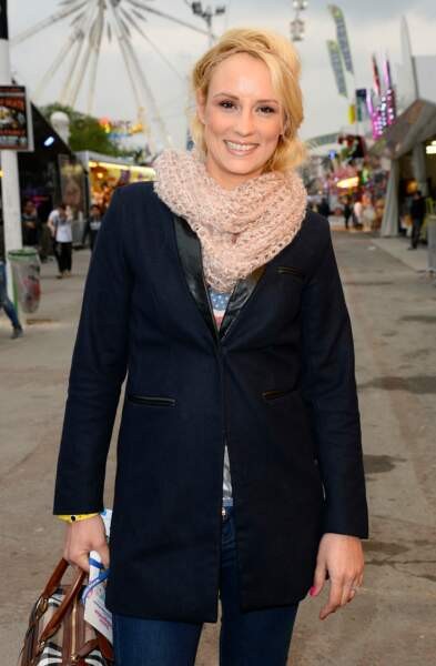 Elodie Gossuin à l'ouverture de la Foire du Trône au profit de l'association Petits Princes à Paris le 4 avril 2014
