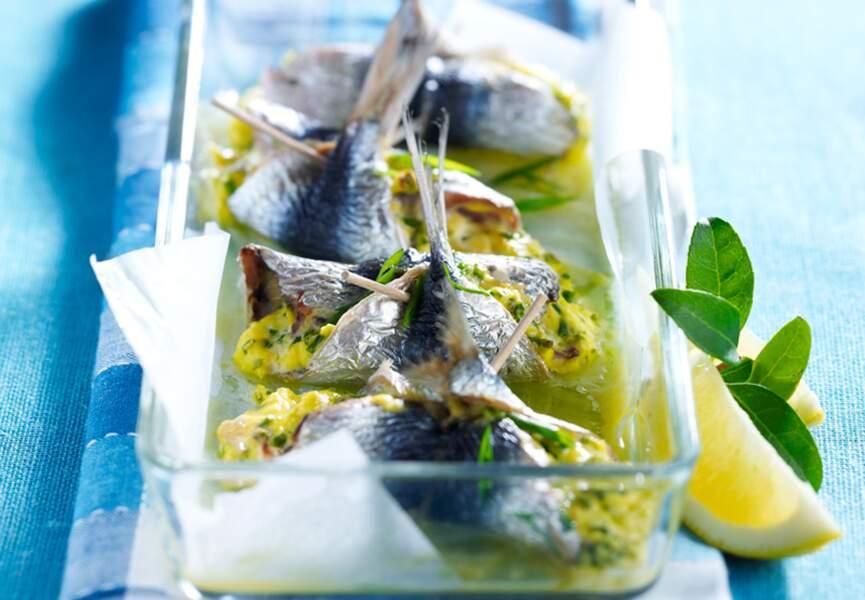 Filets de sardines au chèvre