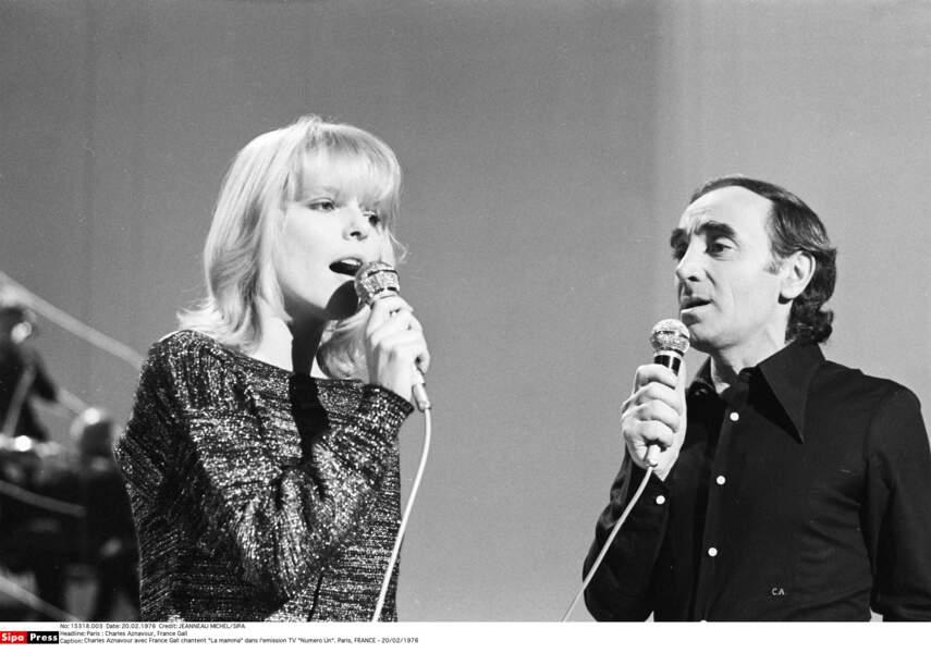 La Mamma avec Charles Aznavour
