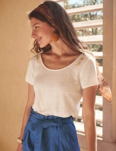 Tee-shirt blanc : champêtre