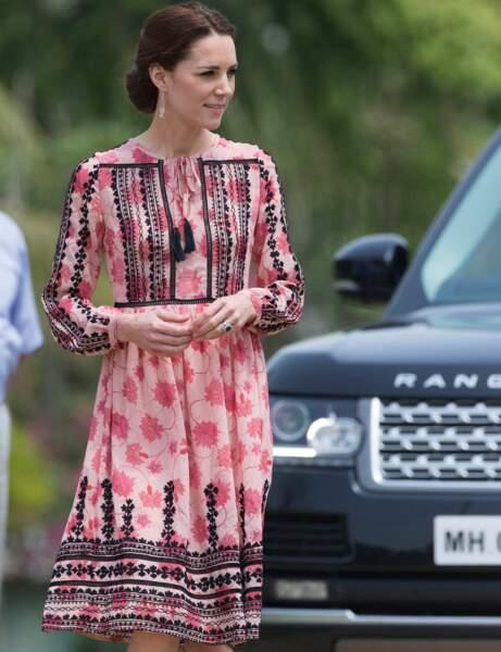 Kate Middleton : la robe ethnique Top Shop