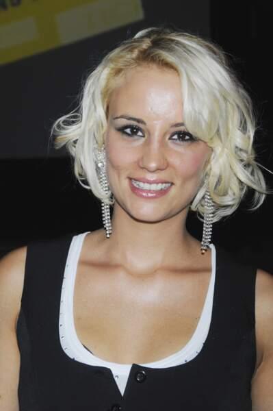 Elodie Gossuin lors d'une soirée à Paris le 23 septembre 2008.