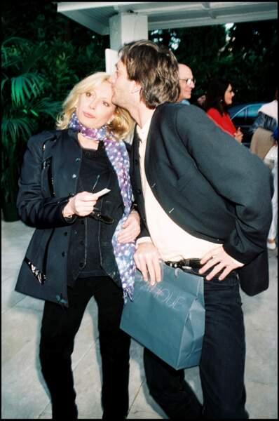 Véronique Sanson et Pierre Palmade à l'anniversaire de Line Renaud le 3 juillet 1998.