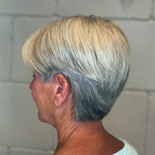 Coiffure Coupe Courte Femme Cheveux Blancs | Coiffures Cheveux Longs