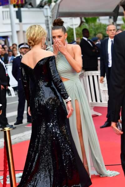 """Virginie Efira, Adèle Exarchopoulos à la première de """"Sibyl"""" à Cannes le 24 mai 2019."""