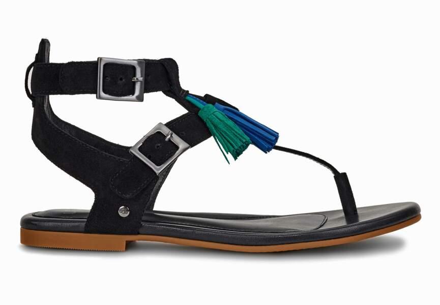 Sandales : daim