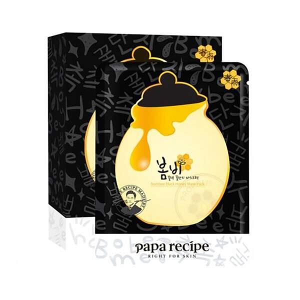 Bombee Black Mask Honey Mask, Papa Recipe, unidose, prix indicatif : 4,50 €