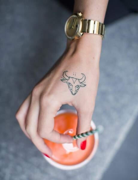 Un motif sur la main