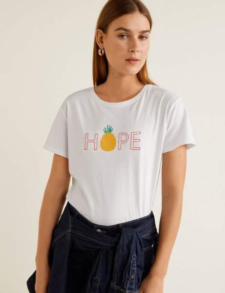 Tee-shirt blanc : fruité
