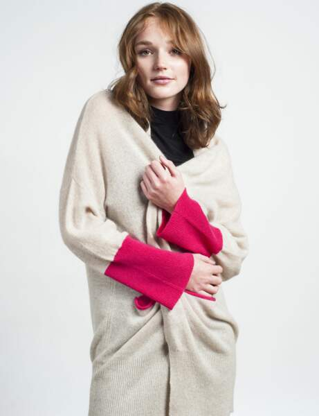 Mode cocooning : le gilet XXL