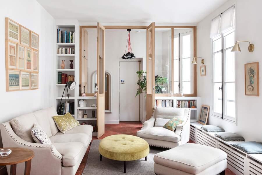 Plus d'espace grâce aux cloisons vitrées