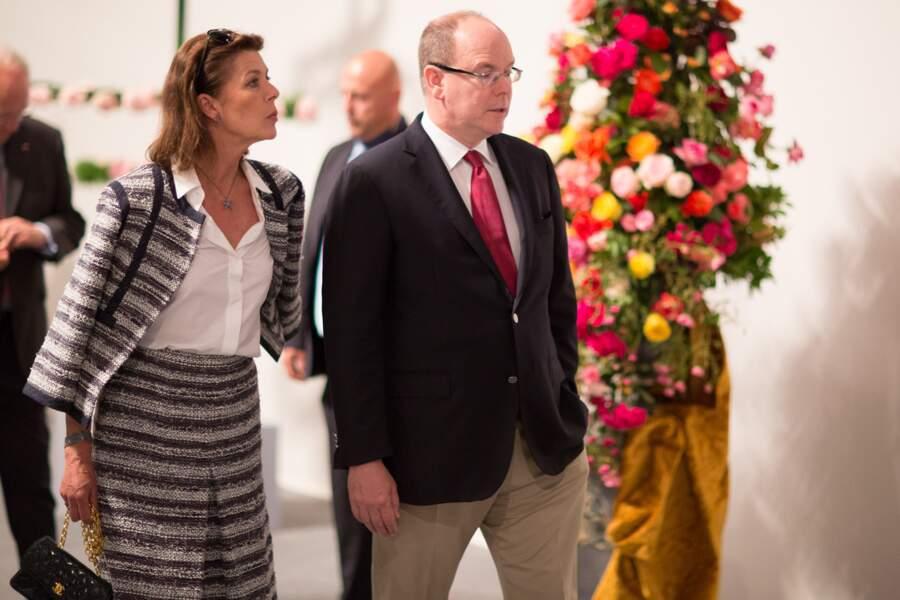 Le Prince Albert II de Monaco et la Princesse Caroline à Monaco le 14 juin 2014.