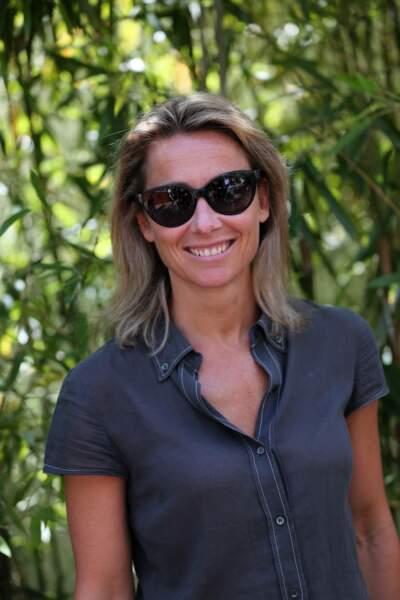 Anne-Sophie Lapix au village de Roland Garros le 7 juin 2015.
