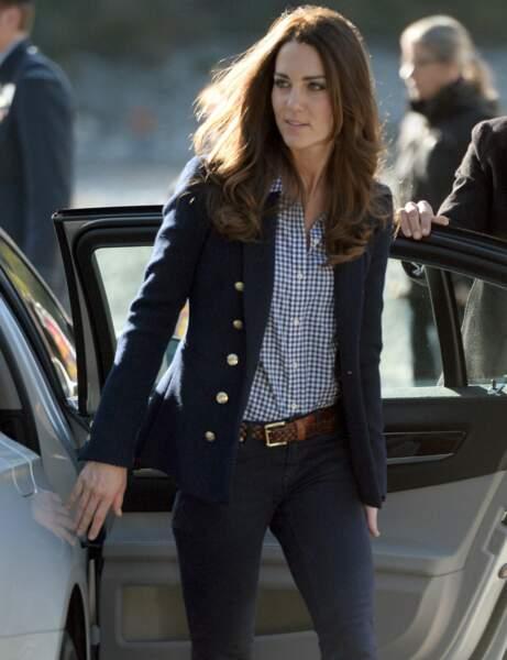 Kate Middleton : la chemise à carreaux Gap