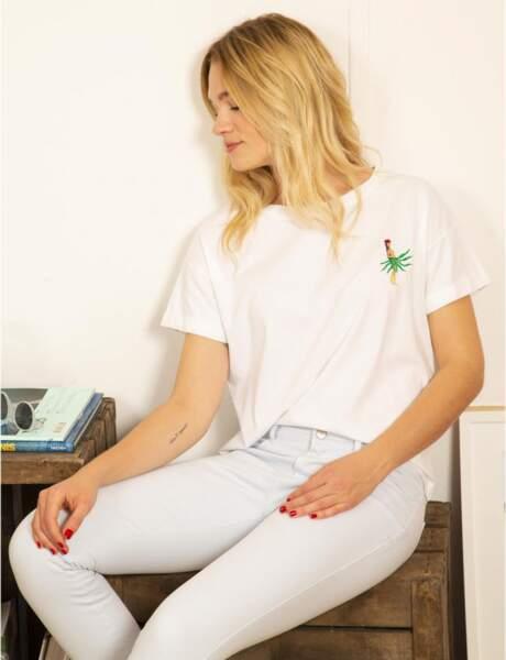 Tee-shirt blanc : exotique