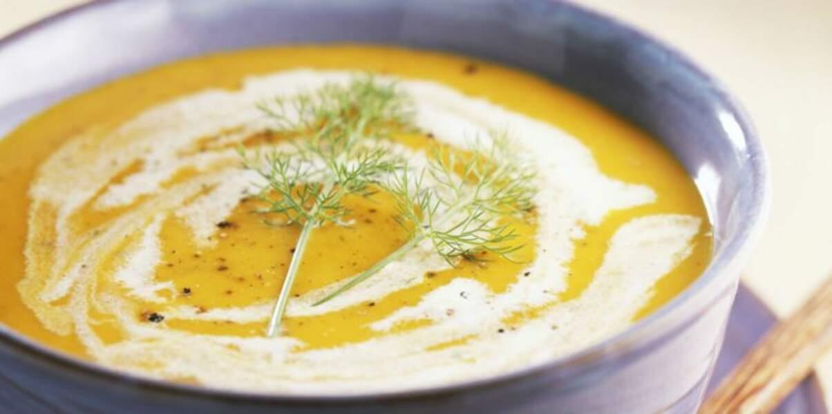 Soupe de courge au fenouil