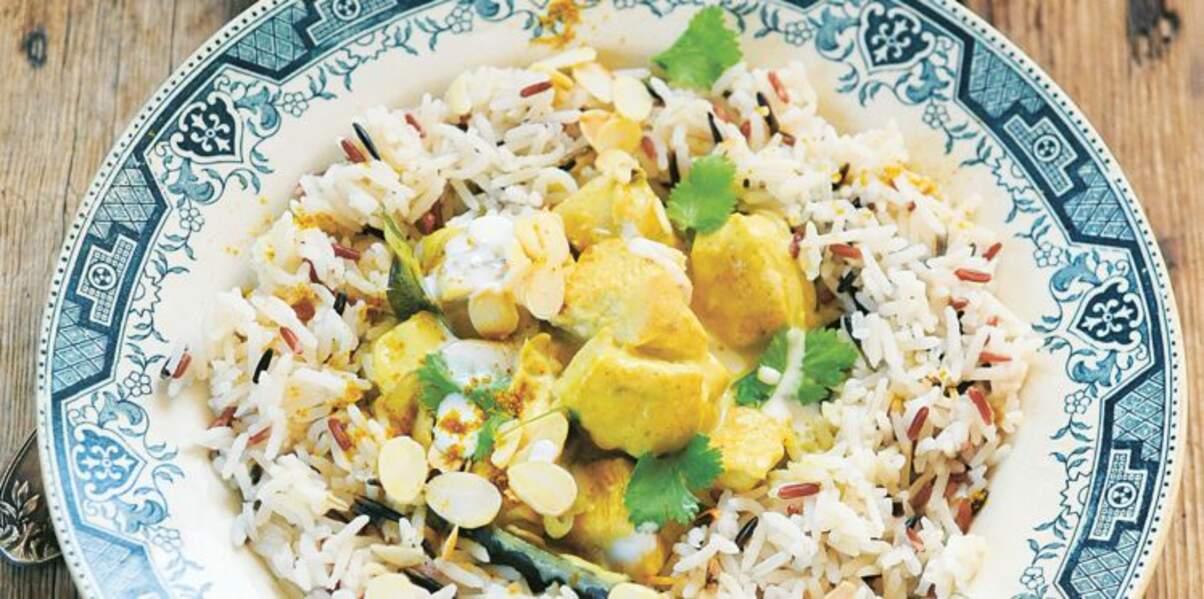 Curry minute au poulet de Laurent Mariotte