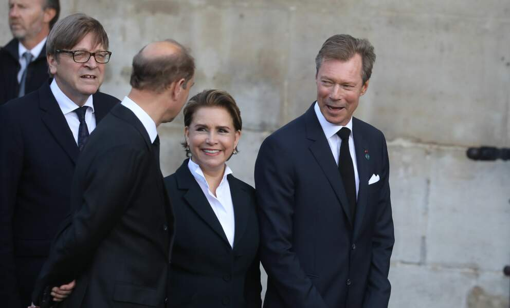... la Grande-Duchesse Maria Teresa et le Grand-Duc Henri de Luxembourg...