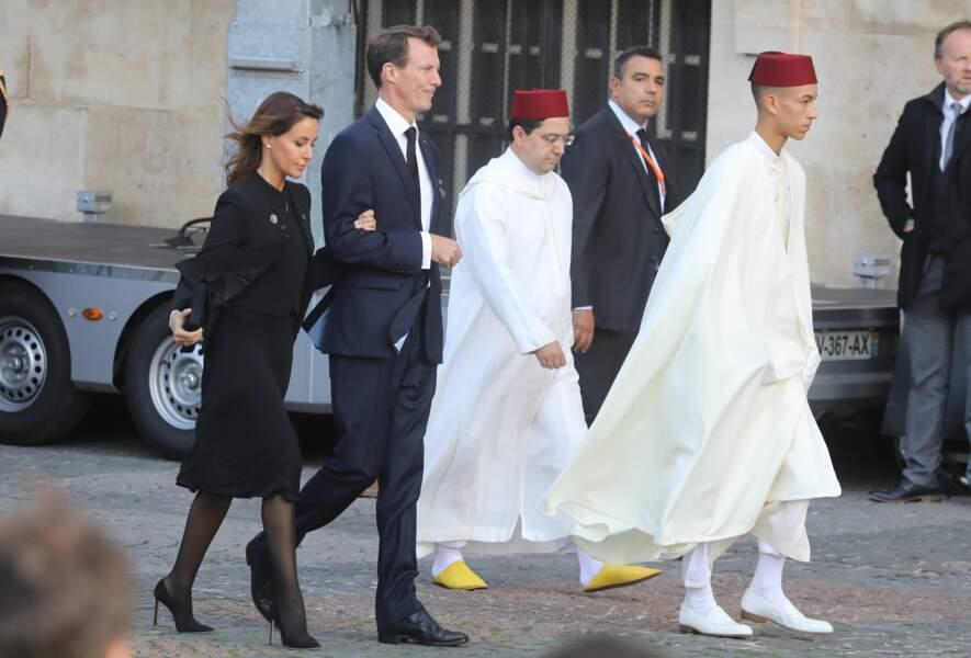 ... aux cotés du prince Moulay El Hassan du Maroc.