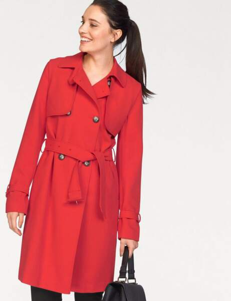 Trench tendance: rouge