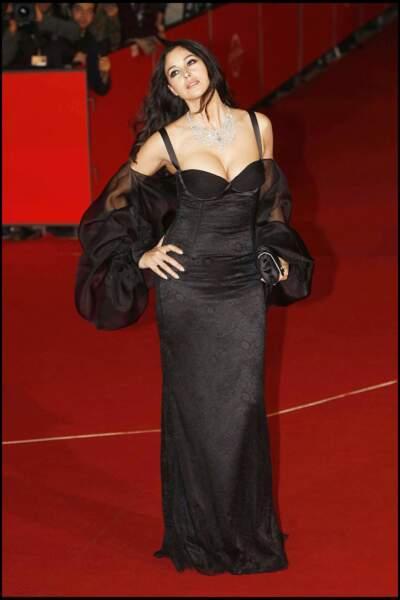 Les robes les plus sexy de Monica Bellucci : octobre 2007