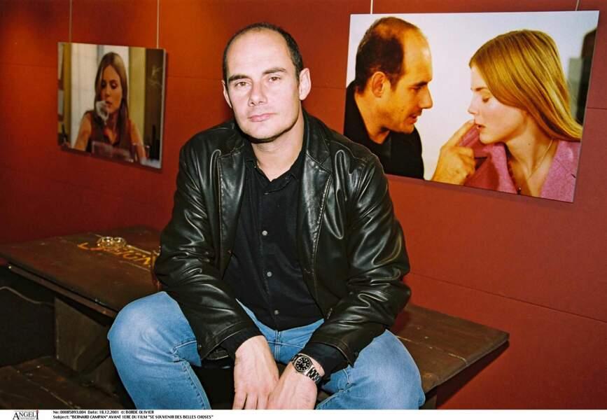 """Bernard Campan à l'avant-première du film """"Se souvenir des belles choses"""" dans lequel il joue en 2001."""