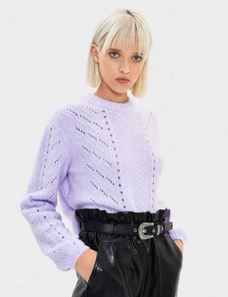 Tendance violet : pull douillet
