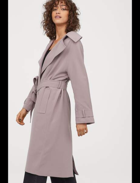 Tendance violet : trench-coat