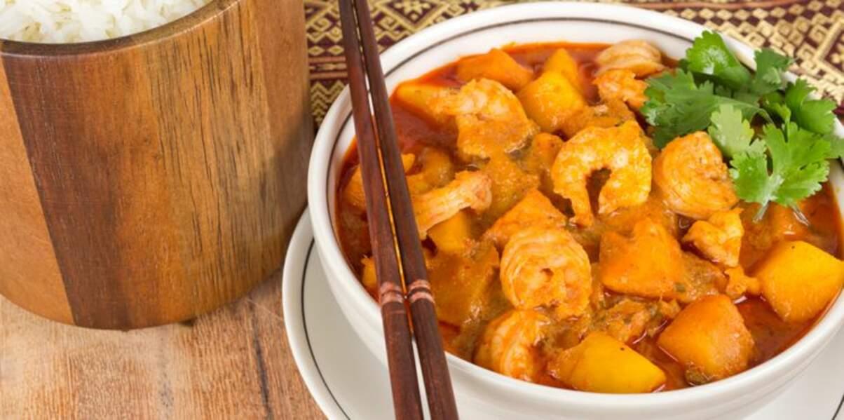 Curry de poisson à la mangue