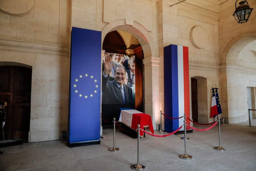 Hommage populaire à Jacques Chirac dans la cours des Invalides le dimanche 29 septembre 2019.