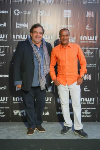 Didier Bourdon et Pascal Légitimus à l'ouverture du Festival Marrakech du rire le 13 juin 2015.