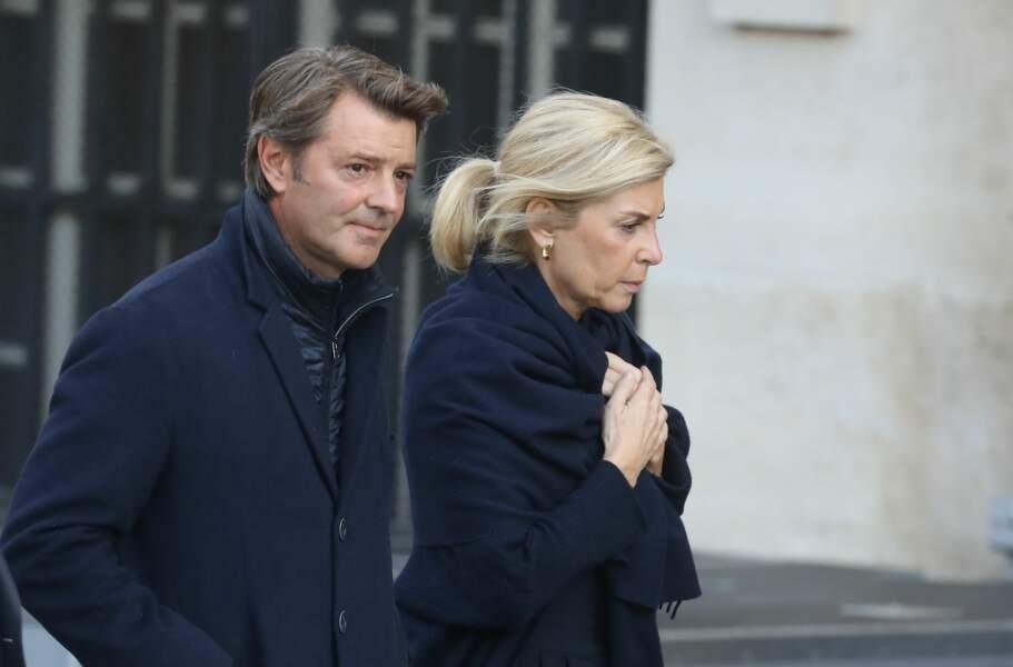 ... François Baroin, ancien ministre de Jacques Chirac, et sa compagne Michèle Laroque.