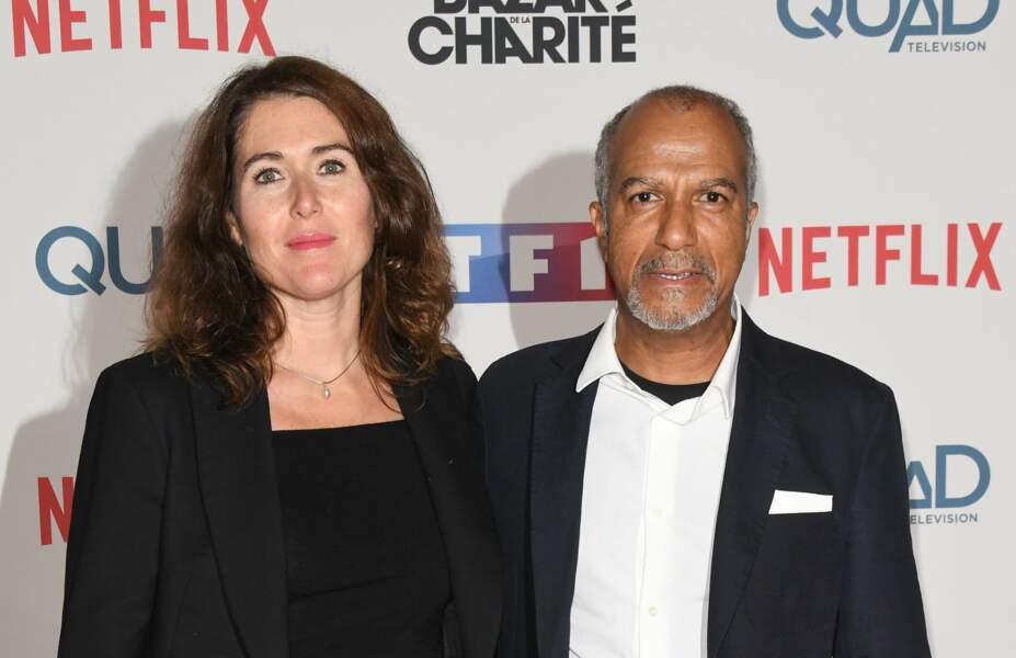 """Pascal Légitimus et sa femme Adriana Santini à l'avant-première de la série """"Le Bazar de la Charité"""" en 2019."""