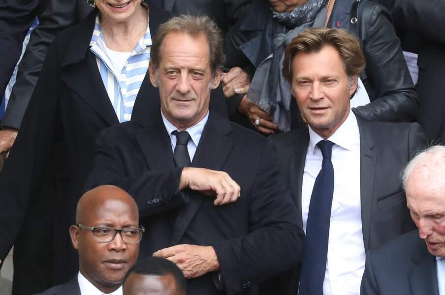 Vincent Lindon en compagnie de Laurent Delahousse.